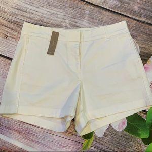 J. CREW Chino White Shorts • NWT!!
